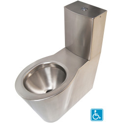 WC stainless steel elevated with tank OPTIMA for People with Reduced Mobility