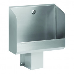 Wall urinal stainless steel large automatic flush integrated