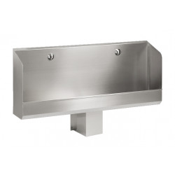 Wall mounted urinal stainless steel 2 places automatic
