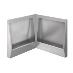 Urinal stall in stainless steel floor or mall standing