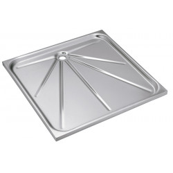Shower tray stainless steel recessed