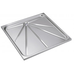 Shower tray stainless steel recessed vandal proof