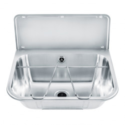 Wash basin in stainless steel multi-functions with back splash