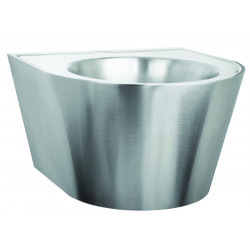 Wash basin mural vandal proof stainless steel with service trap