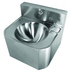 Wash basin mural stainless steel vandal proof integrated faucet