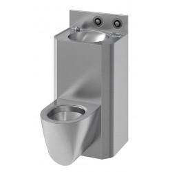 Wall-hung wash basin and WC combination COMPAC