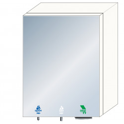 High mirror unit 3 in 1 soap, water and paper towel dispenser