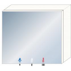 Meuble haut miroir 3 en 1 savon, eau et air pour lavabo en collectivités